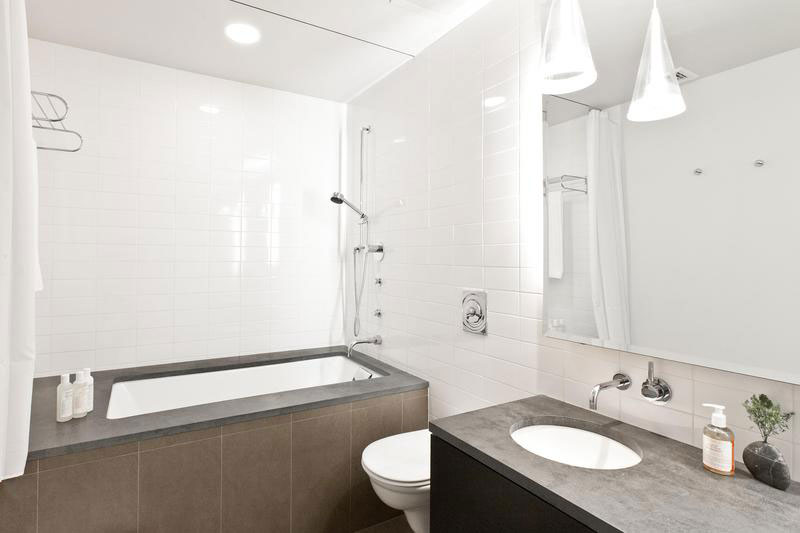 black and white bathroom - soho apartment