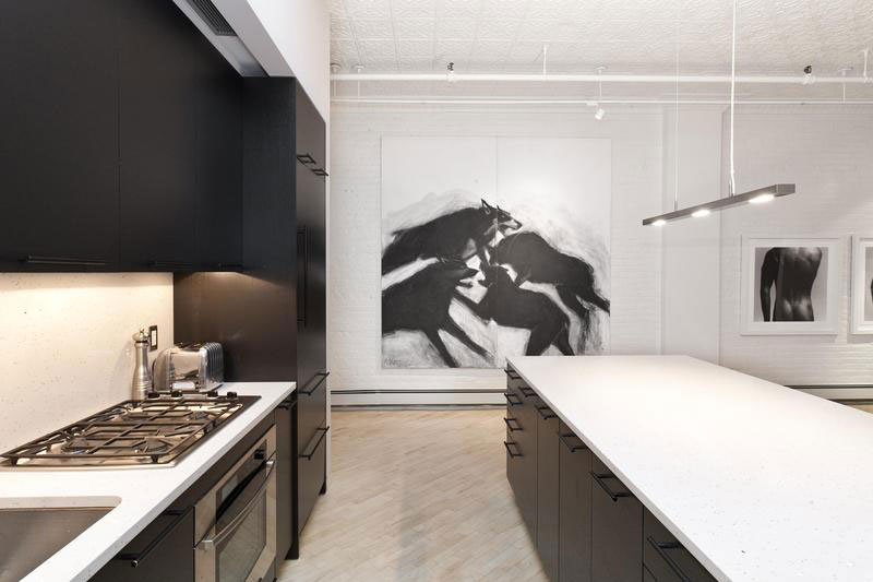 black and white kitchen soho