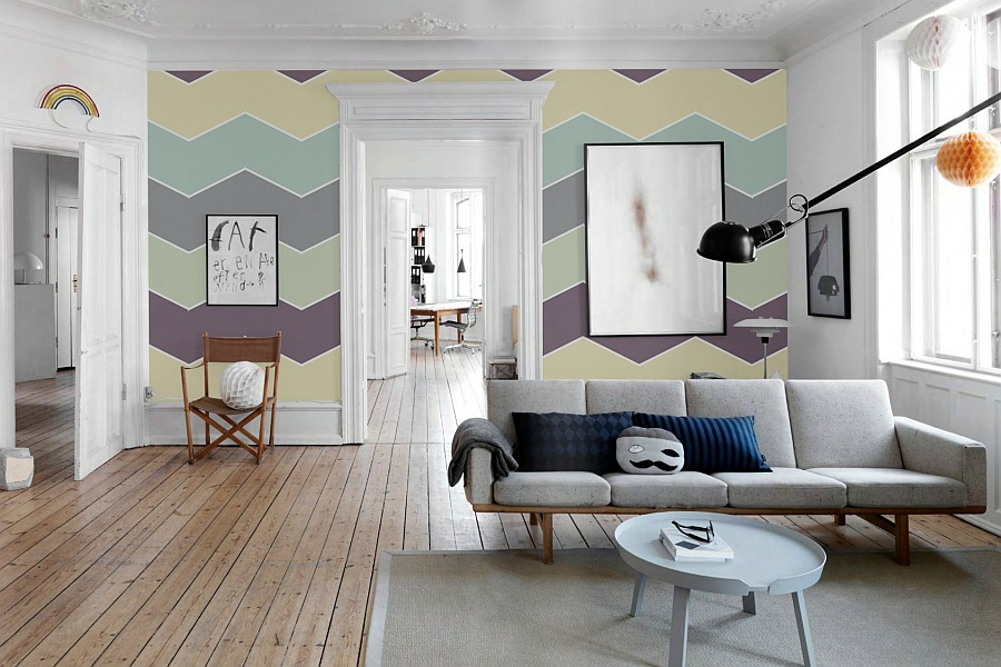 colorful wall murals - stripes