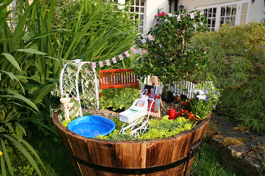 Diy miniature garden celebrates the birth of the royal baby in style