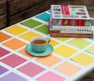 diy paint chip coffee table
