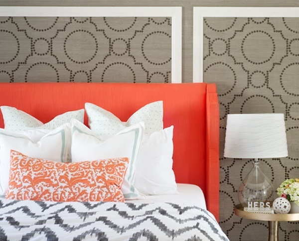 faux panel wall accent