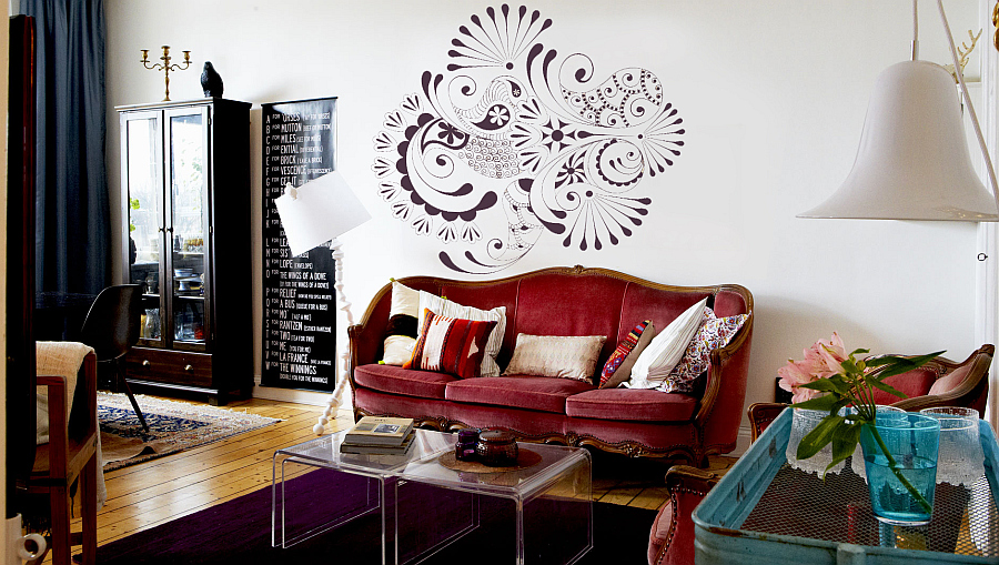 folk patterns wall decals