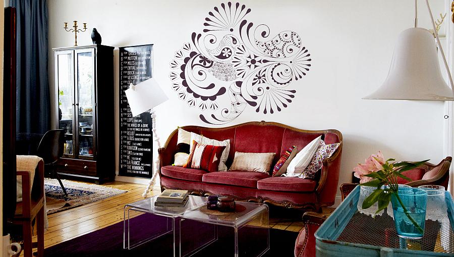 Elegant View In Gallery Folk Patterns Wall Decals Part 12
