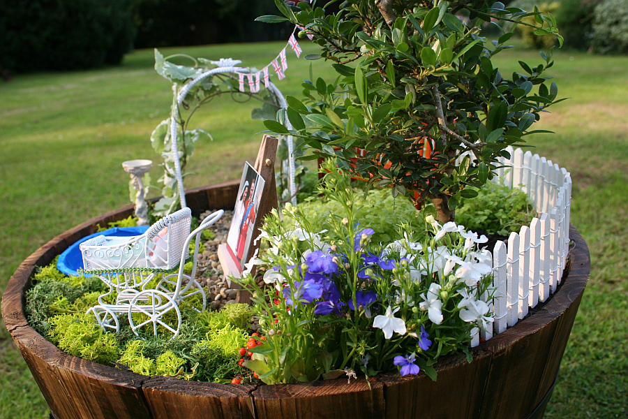 miniature garden for the royal baby