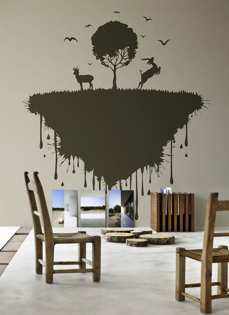 minimalist room - wall decal