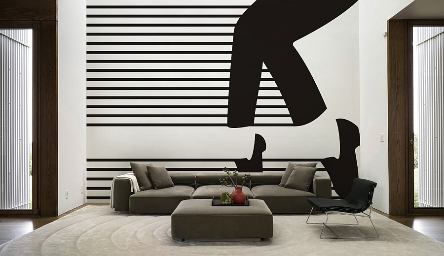modern living room wall decal