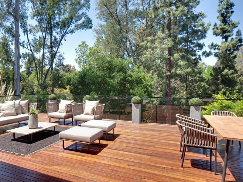 modern patio beverly hills