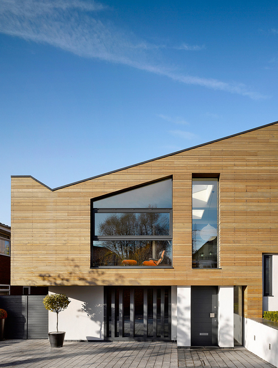 Modern House Exterior Design Ideas: Manchester Residence Gets A Modern Makeover Encased In