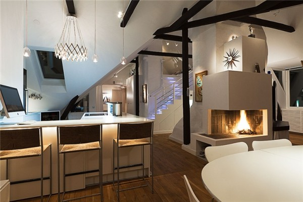 Loft With Classic Scandinavian Interior Design And Modern Overtones