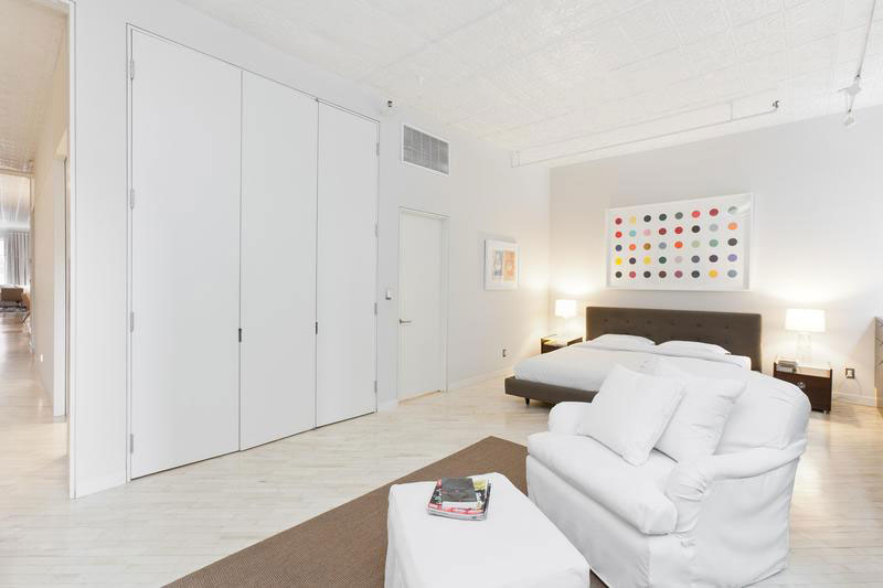 white bedroom decor - soho apartment
