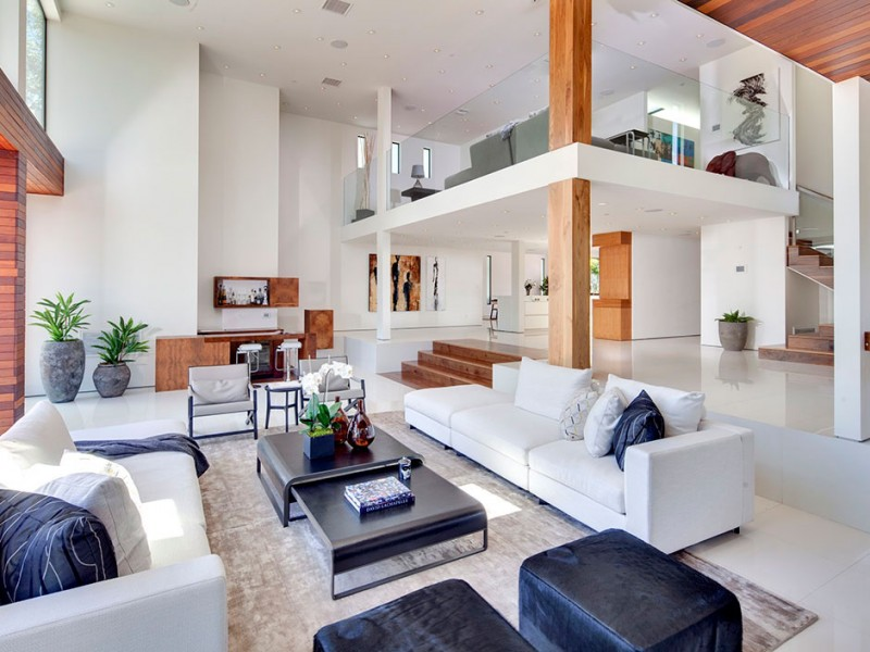 white modern villa