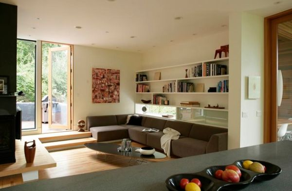 A perfect coffee table for the large sectional sofa