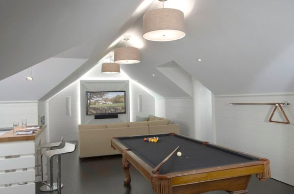 Add pool table to the media room for greater entertainment options!