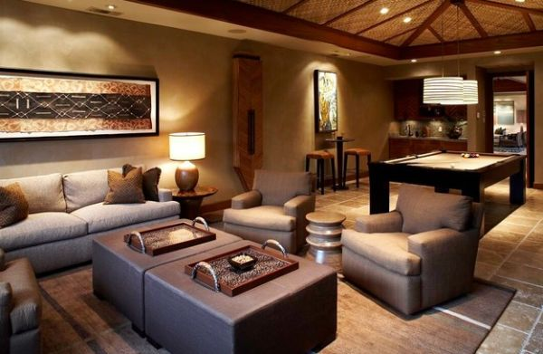Game Room Design Ideas 4 tags traditional game room with pendant light high ceiling minnesota fats covington 75 billiard View In Gallery Additional Space In The Living Room Turned Into A Fun Spot