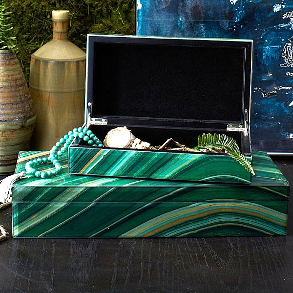 Agate jewelry box