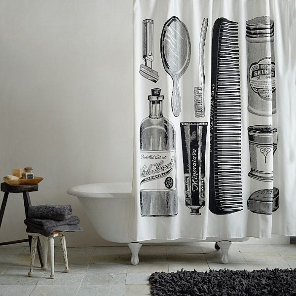 Apothecary shower curtain from West Elm