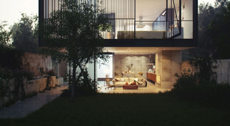 Architectural concept of Glass Box House