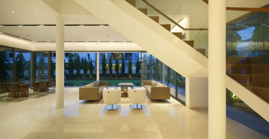 Beautiful artificial lighting in the living room