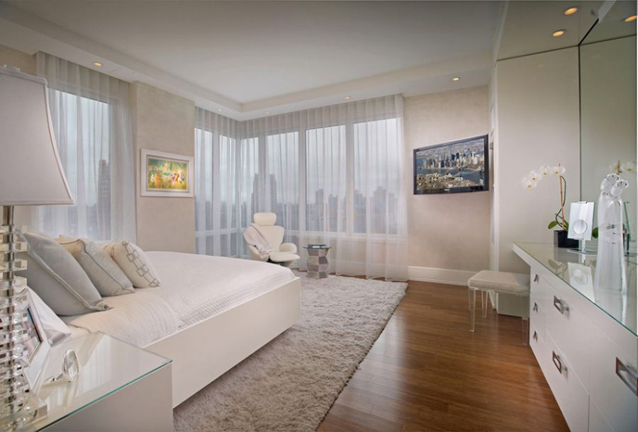 Picot residence in new york city showcases brilliant for New york bedroom designs
