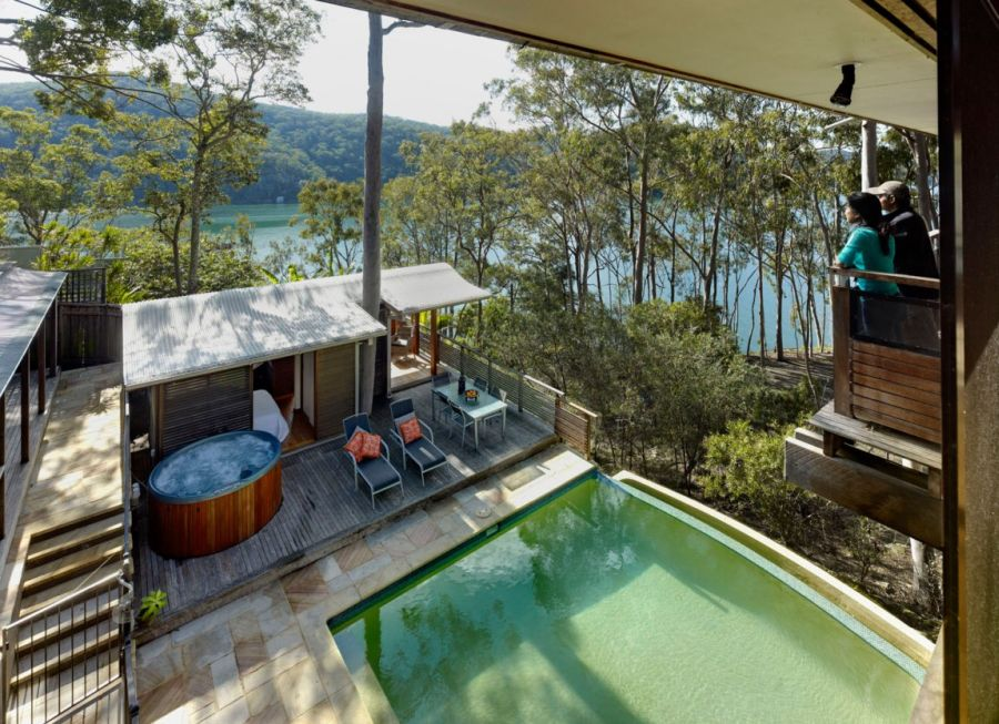 Beautiful views from the top level of Treetops home