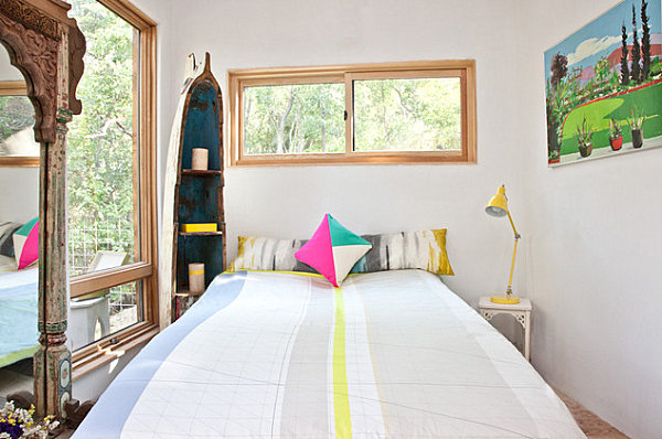 Bedroom of bright accents