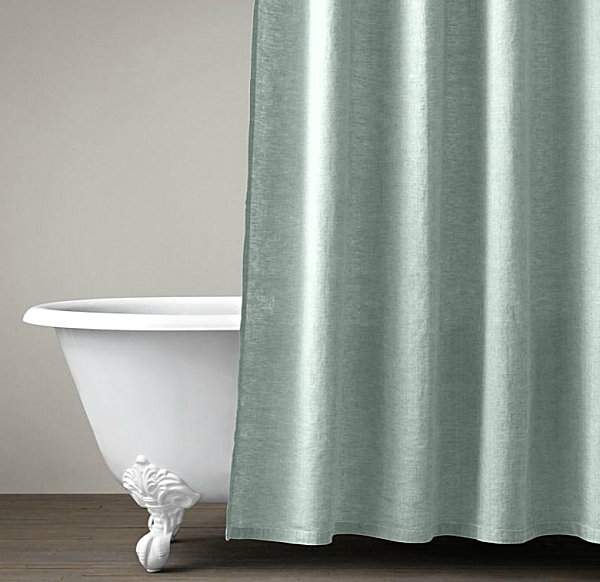 Belgian linen shower curtain