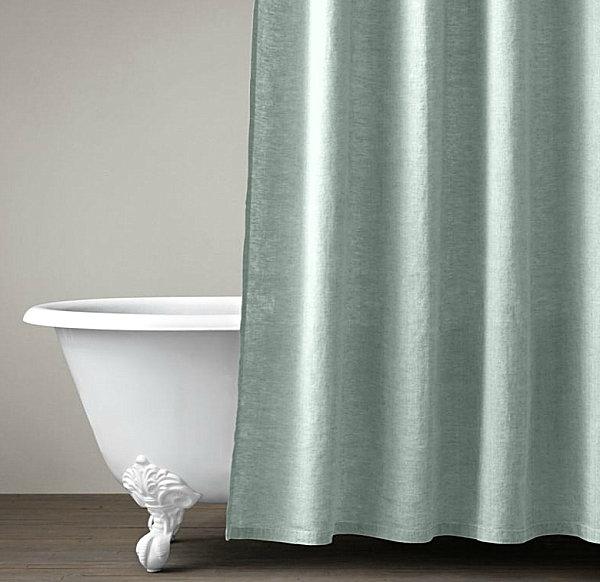 Belgian linen shower curtain