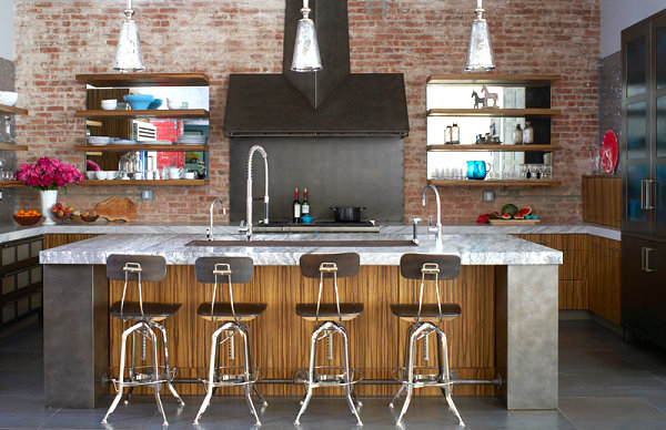 Bright details in an industrial kitchen