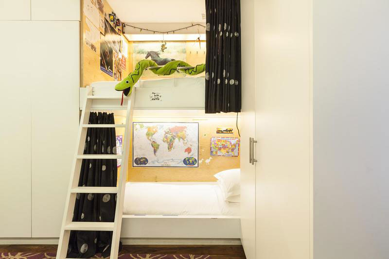 Bunk beds in the kids' bedroom