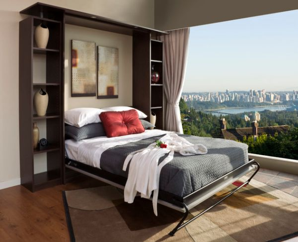 Chocolate Apple Murphy Bed Unit - As gorgeous as the view outside