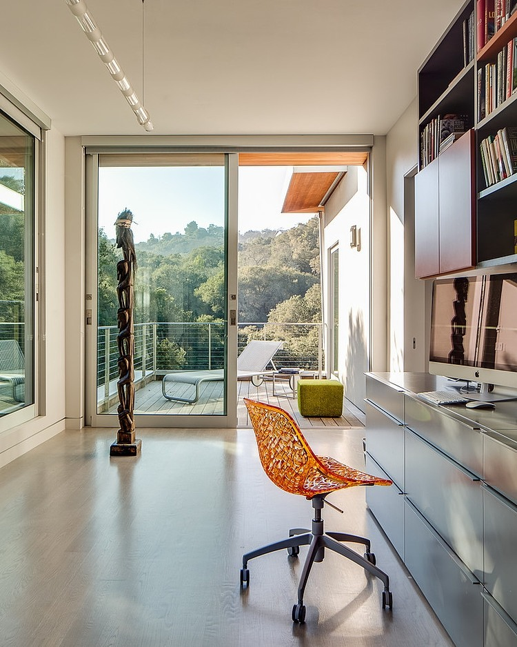 Colorful furnishings at the California home