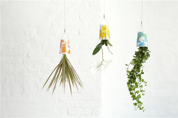 Colorful hanging planters with a retro touch by boskke