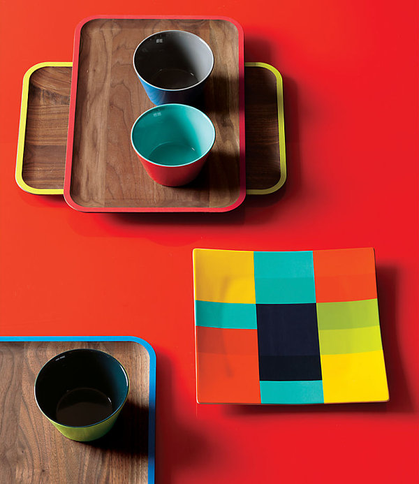Colorful serving pieces for fall