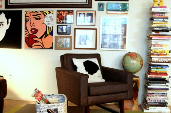 Comic book canvas steals the show here