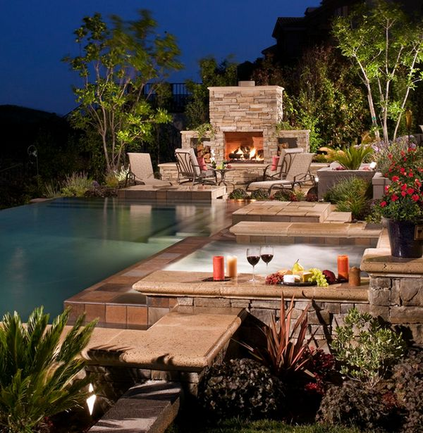 Outdoor House Pools outdoor inspiration: stunning design ideas for fireplacesthe pool
