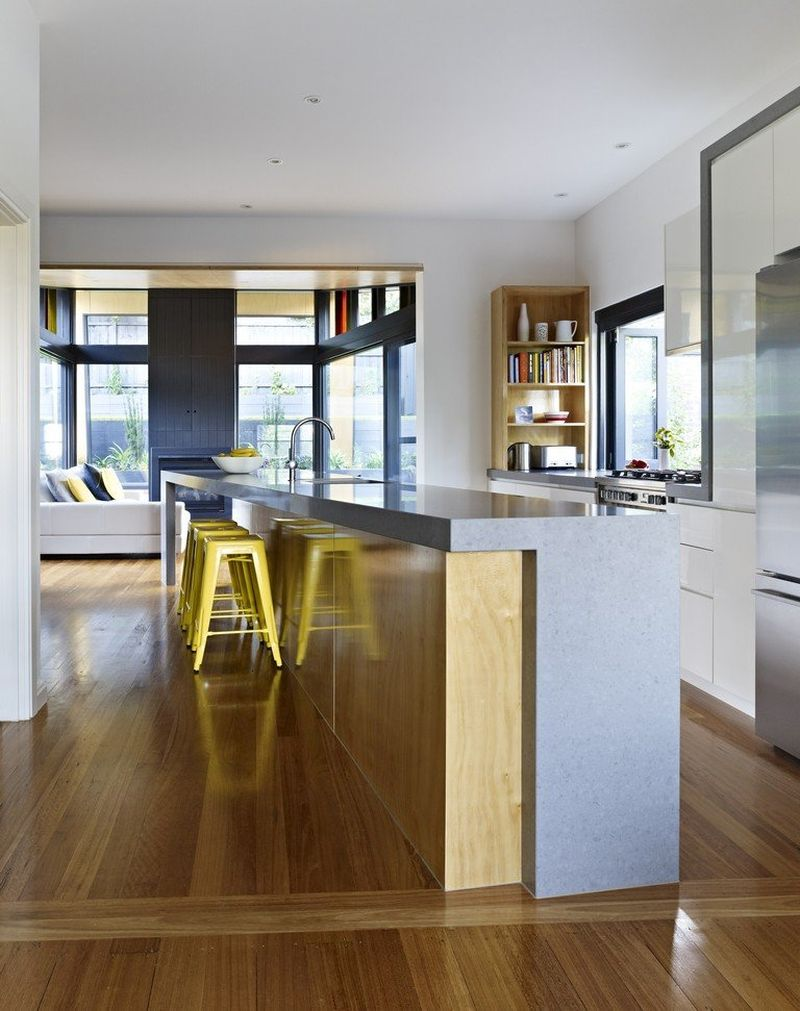 Contemporary kitchen at the Kew House