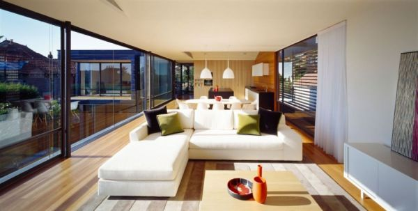 20 Pretty Cool Lighting Ideas For Contemporary Living Room: Stylish Balmoral House Sports Spacious Interiors And A