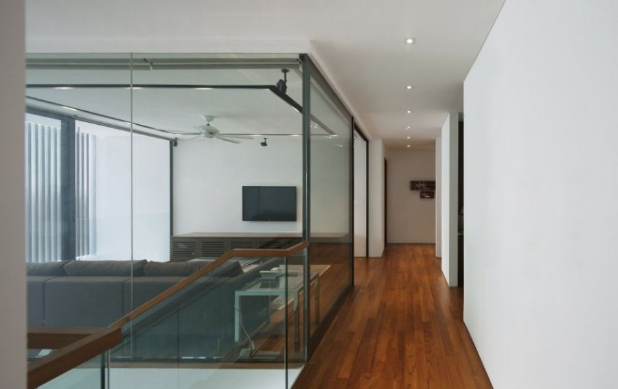 Cool glass enclosure in the house
