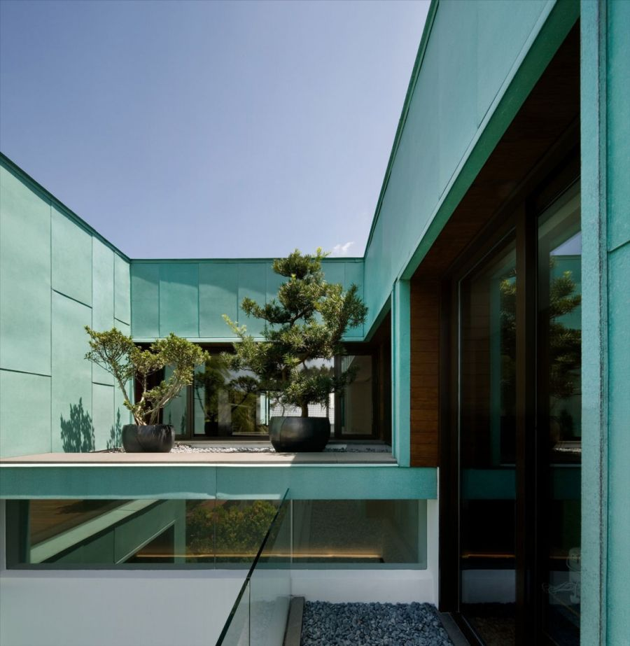 Copper exterior of Green House offers thermal insulation