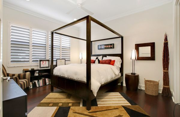 Create a luxurious and beautiful guest bedroom with the four-poster