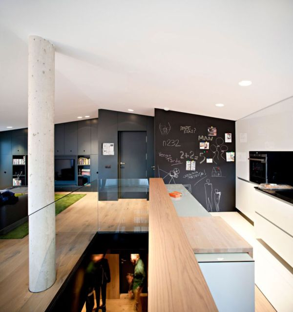 Creative walls of the kitchen