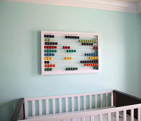 DIY abacus wall art