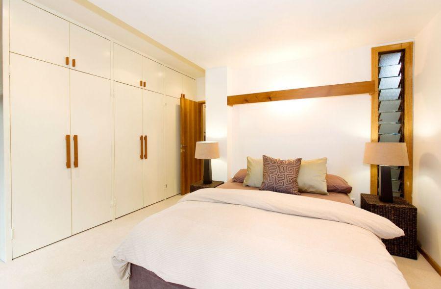 Daft shelves inside the bedroom