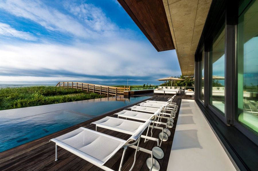 Deck space with ocean view