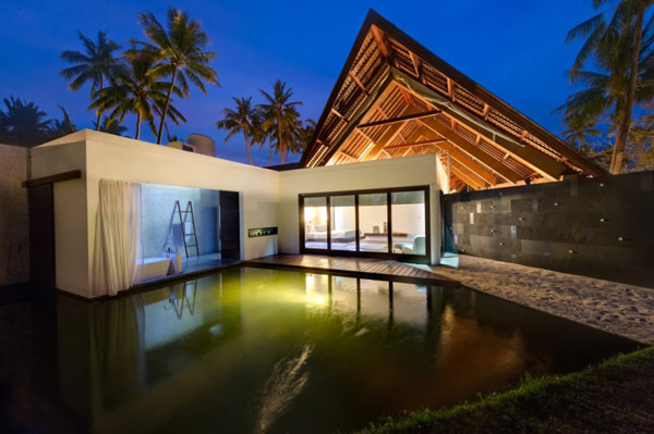 Decorative fish and koi ponds at Villa Sapi in Lombok