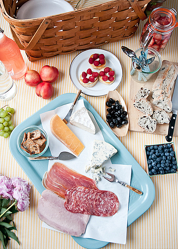 Delicious picnic spread