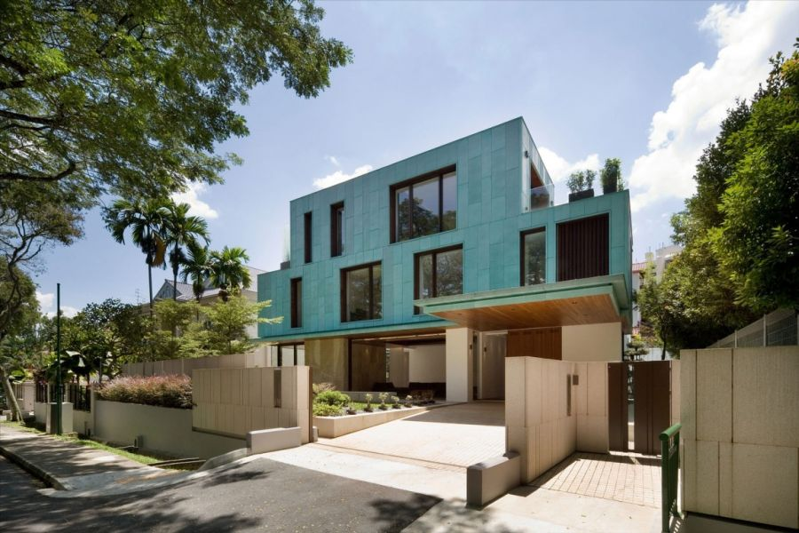 Modern Contemporary House Colours Exterior Singapore