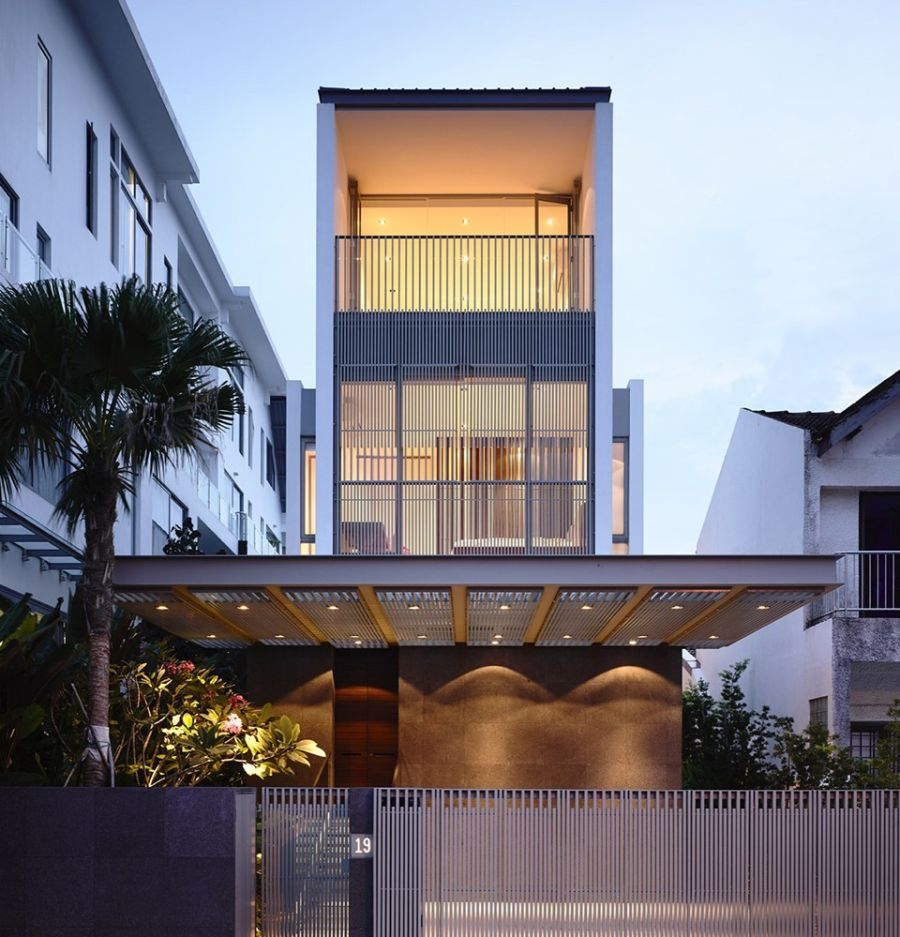 Inside of a stylish home in singapore Architecture home facade