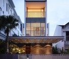 External facade of stylish Singapore Home